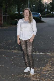 Buena Vista Damen Jeans Tummyless stretch Twill - black leo