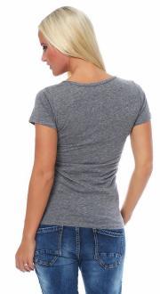 Local Celebrity Damen T-Shirt Shirt Kurzarmshirt CREME DE LA CREME