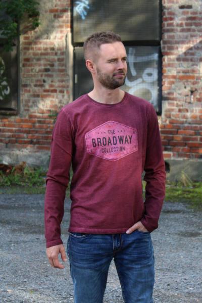 BROADWAY NYC Herren T-Shirt Langarmshirt CILIAN