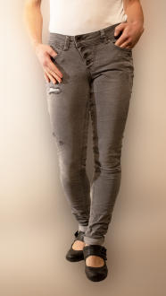 Buena Vista Damen Stretch Jeans Malibu grey destroyed