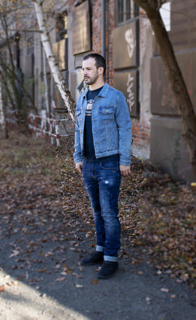 BROADWAY NYC Herren Jeans Jacke Sweat Denim Größe S