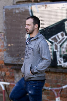 BROADWAY NYC Herren Sweatjacke Kapuzensweater COTY