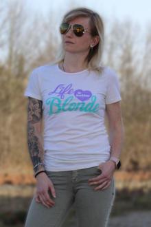 Local Celebrity Damen T-Shirt LIFE IS BETTER Größe S