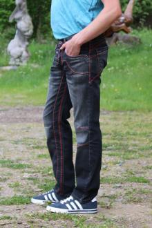 Rusty Neal Herren Jeans dark grey W30