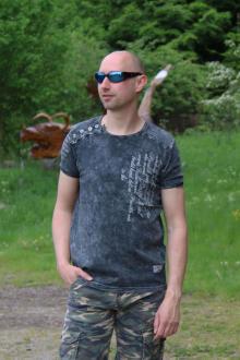 Rusty Neal Herren T-Shirt R-15195 anthrazit S