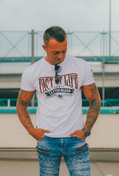 Fact of Life Herren T-Shirt Kurzarmshirt Tattoo XL