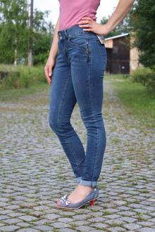Buena Vista Damen Jeans Tummyless-Z Stretch mid stone