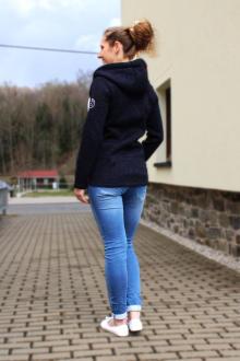 salzhaut Damen Strick Fleecejacke Kapuzensweater Danni XS