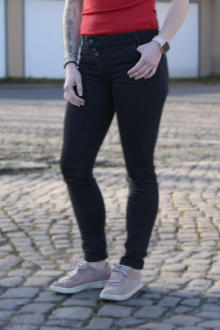 Buena Vista Damen Jeans Kim Stretch Twill - black S