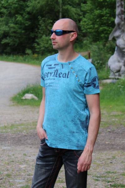 Rusty Neal Herren T-Shirt Petrol XL
