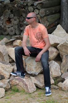 Rusty Neal Herren T-Shirt R-15195 orange