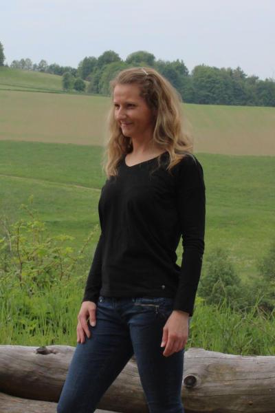 Volcano Damen T-Shirt Langarmshirt L-MILA S