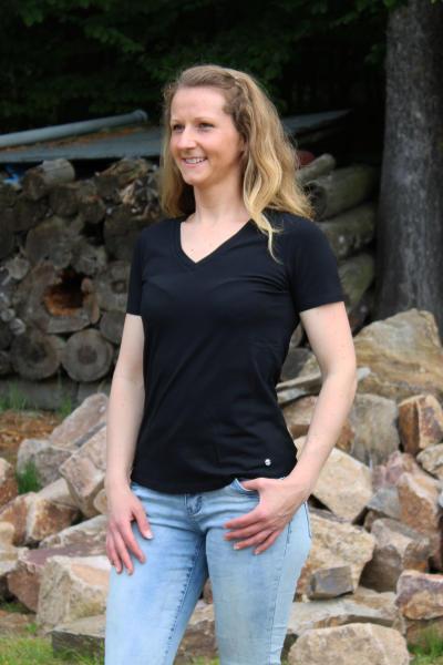 Volcano Damen Basic T-Shirt T-MORILEE XL