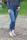 Buena Vista Damen Jeans Tummyless 7/8 stretch sparkle Denim XXS