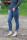 Buena Vista Damen Jeans Tummyless 7/8 stretch sparkle Denim S