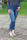 Buena Vista Damen Jeans Tummyless 7/8 stretch sparkle Denim XL