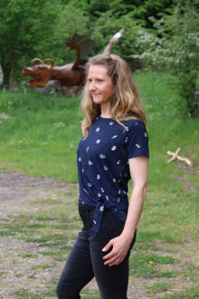 Volcano Damen T-Shirt Blusenshirt T-MISKTYKA