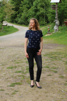Volcano Damen T-Shirt Blusenshirt T-MISKTYKA Größe S