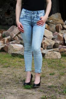 Buena Vista Damen Jeans Florida 7/8 stretch Denim bleach XS