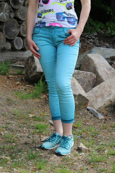 Buena Vista Damen Jeans Florida-Z 7/8 stretch Twill sea XL