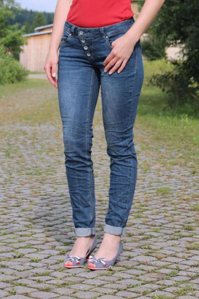 Buena Vista Damen Jeans Malibu stretch denim mid stone