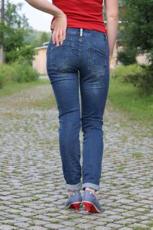 Buena Vista Damen Jeans Malibu stretch denim mid stone XS