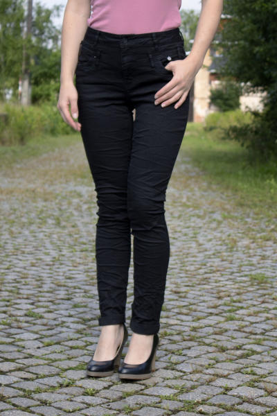 Buena Vista Damen Jeans Florida Stretch Twill schwarz XXS