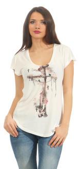 Religion Damen T-Shirt CORNER STONE TEE B142COT40