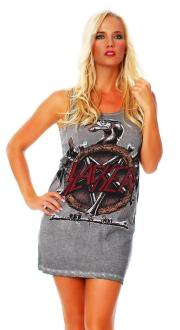 Disturbia Damen Kleid Dress T-Shirt Shirt Slacker