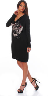 Religion Damen Kleid Damenkleid Longshirt Partykleid...
