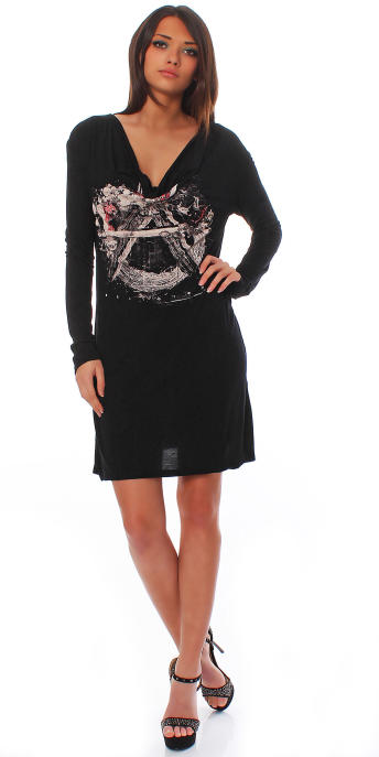 Religion Damen Shirt Anarchi LS Dress M