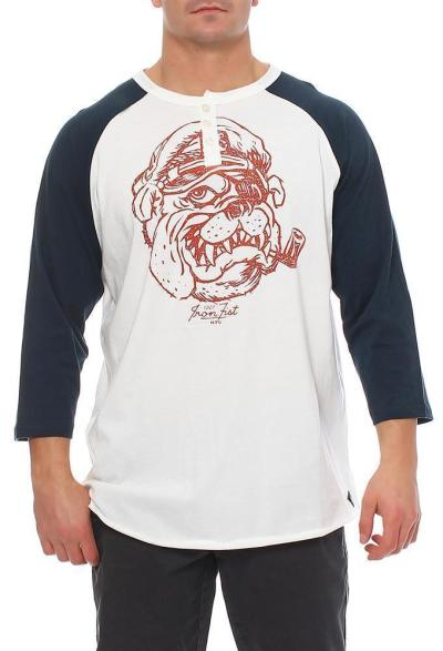 Iron Fist T-Shirt Salty Dog 3/4 Raglan Tee Größe XXL