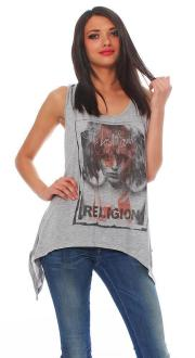 Religion Damen T-Shirt Top SHES LOST M