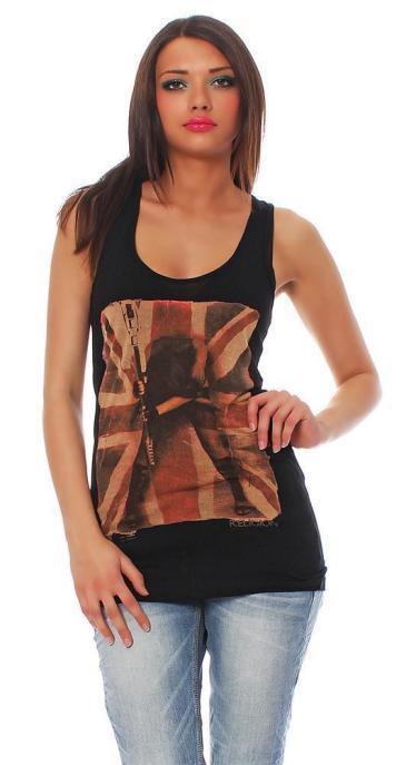 Religion Damen T-Shirt Top Tank Top Trägershirt SMASH IT VEST