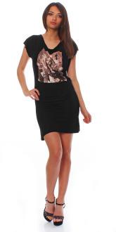 Religion Damen Kleid Dress Damenkleid Partykleid T-Shirt ISN`T DEAD BACKLESS B121RID30