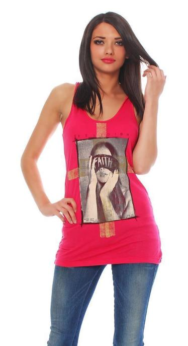Religion Damen T-Shirt Top FAITH VEST TOP