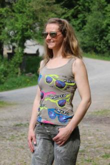 Cipo & Baxx Damen T-Shirt Top CBW 2289 M weiss