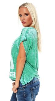Local Celebrity Damen T-Shirt BUY ME BRUNCH green Größe S