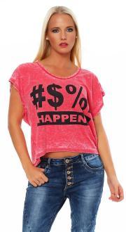 Local Celebrity Damen T-Shirt SHIT HAPPENS