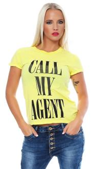 Local Celebrity Damen T-Shirt CALL MY AGENT