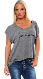 Local Celebrity Damen T-Shirt TOO LATE  Größe S