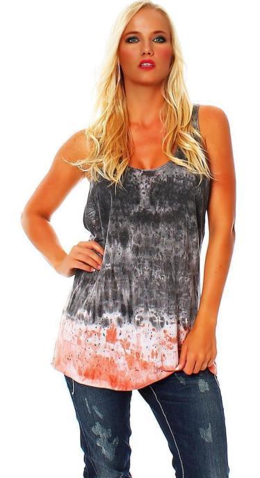 Religion Damen T-Shirt Top COVEN WASH VEST B113CVT52 L