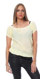 M.O.D Damen Bluse Kurzarmbluse Shirt Kurzarmshirt BL089...