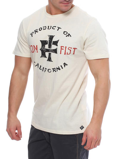 Iron Fist Herren T-Shirt PRODUCT OF CALIFORNIEN off withe Größe XL