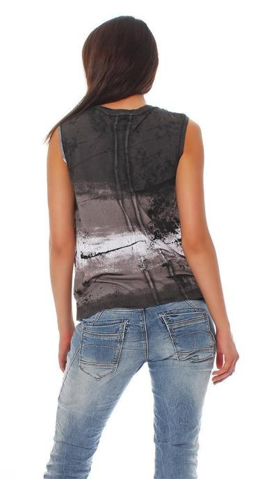 Religion Damen T-Shirt Top Prolific Vest B123HLT52 M