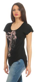 Religion Damen T-Shirt CORNER STONE TEE  B142COT40 schwarz S