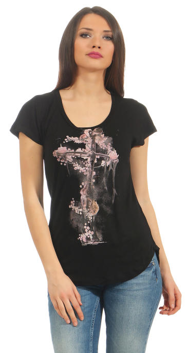 Religion Damen T-Shirt CORNER STONE TEE  B142COT40 schwarz M