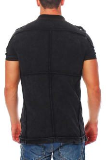 RioRim Herren Poloshirt  T-Shirt Liwanu black S