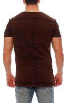 RioRim Herren T-Shirt Kurzarmshirt Shirt Kosuni braun