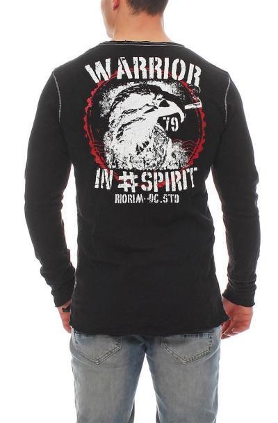 RioRim Herren T-Shirt Longsleeve ATOHI 3106 black Größe S